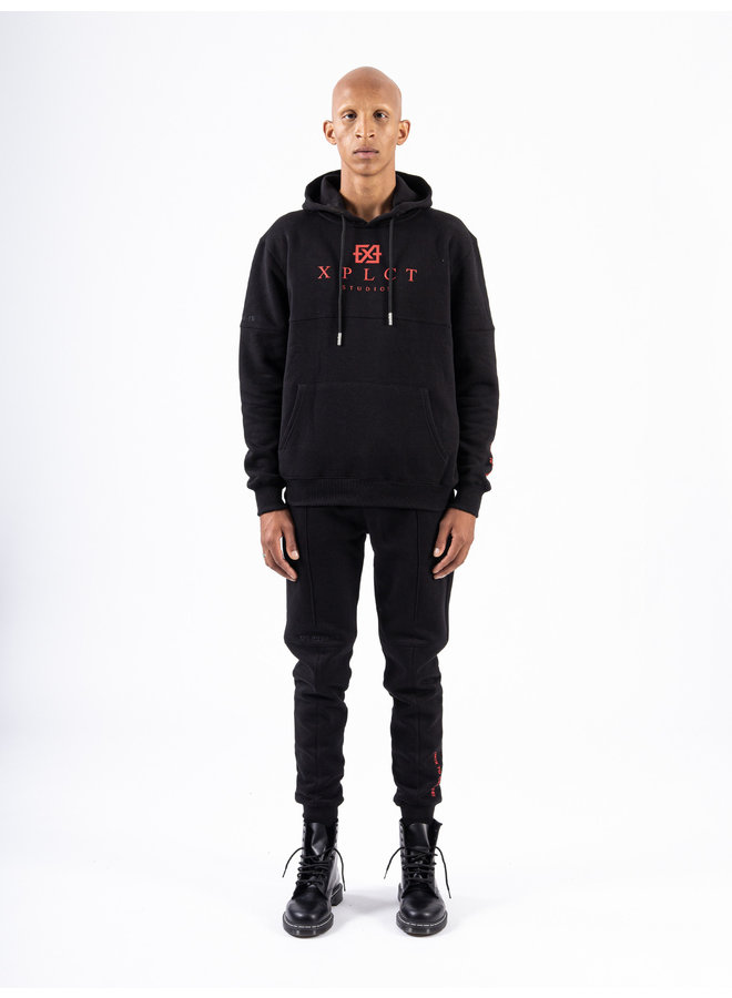 XPLCT Studios - Brand Hoodie Black / Red