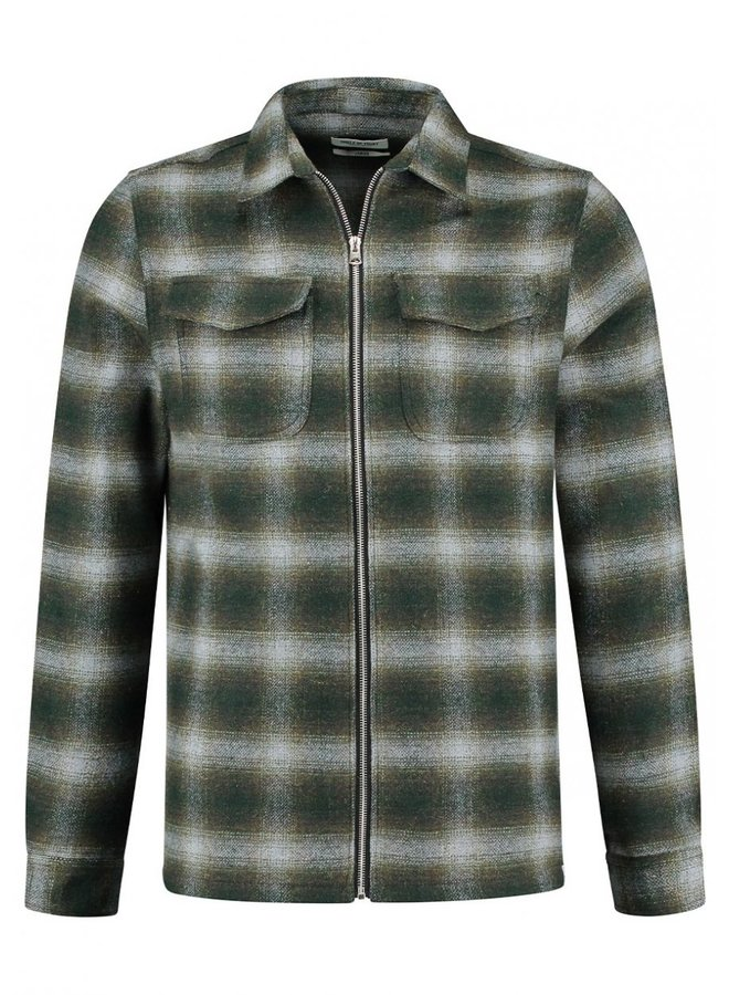 Circle of Trust - Jonah Zip Shirt Green
