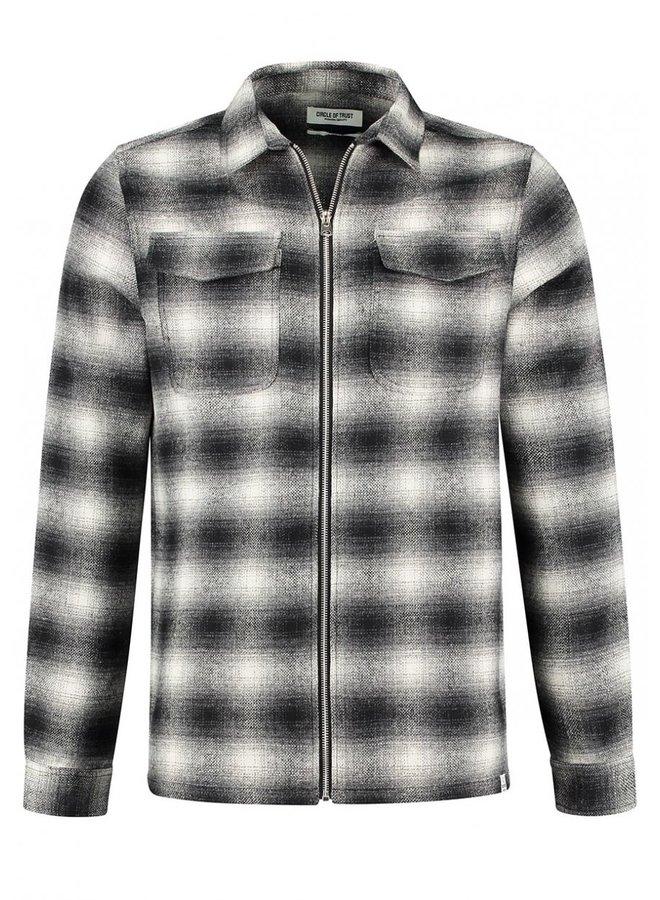 Circle of Trust - Jonah Zip Shirt Black