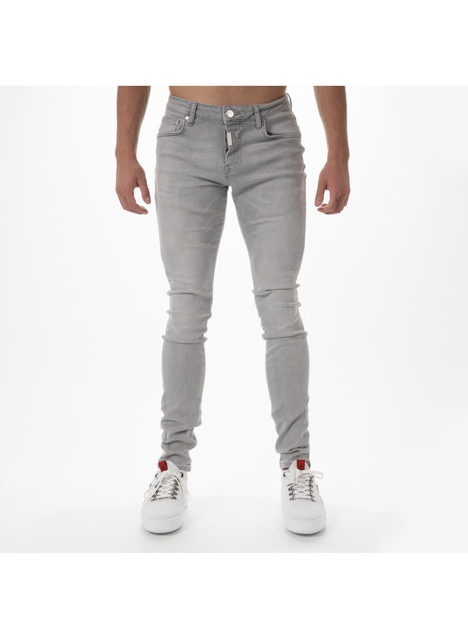AB Lifestyle - Basic Stretch Jeans Light Grey
