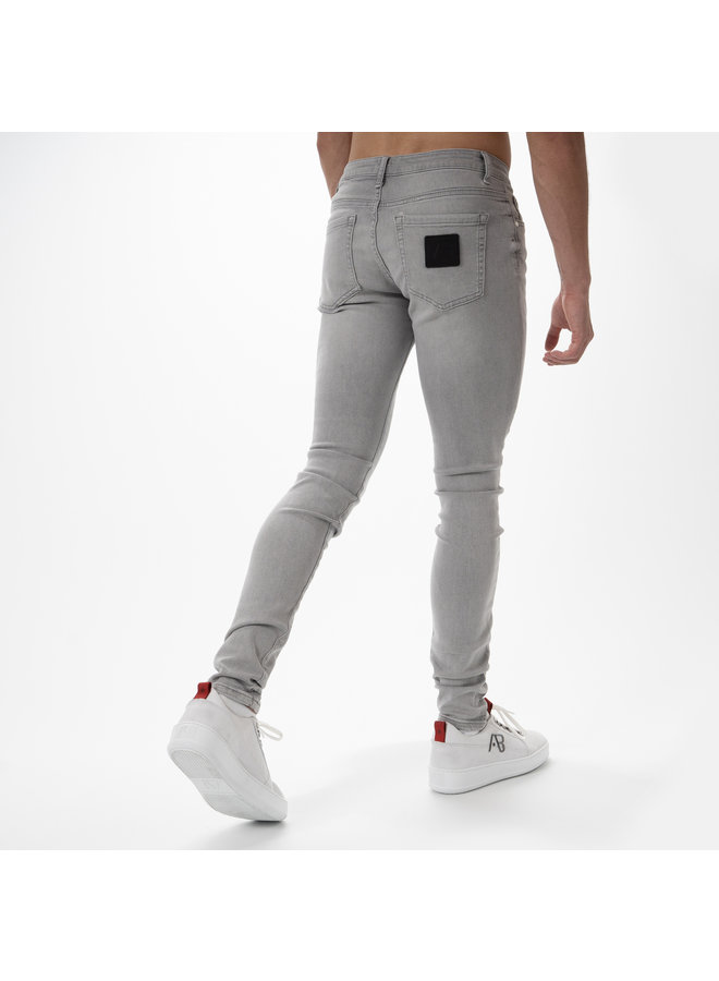 AB Lifestyle - Basic Stretch Jeans Licht Grijs