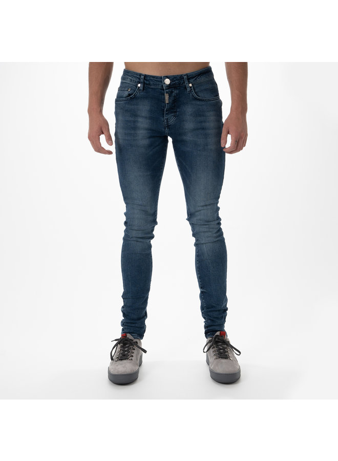 AB Lifestyle - Basic Stretch Jeans Mid Blue