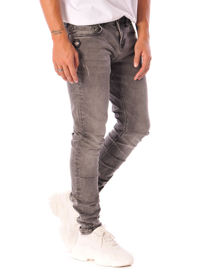 Black Bananas - Don Clean Jeans Grijs