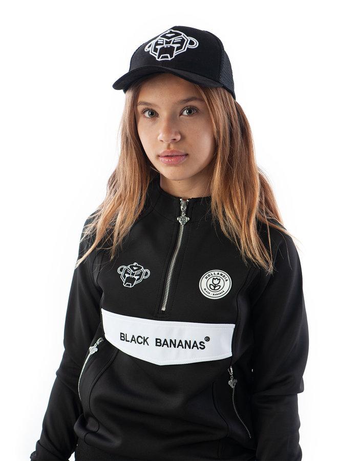 Black Bananas Kids - JR High Collar Tracksuit Zwart