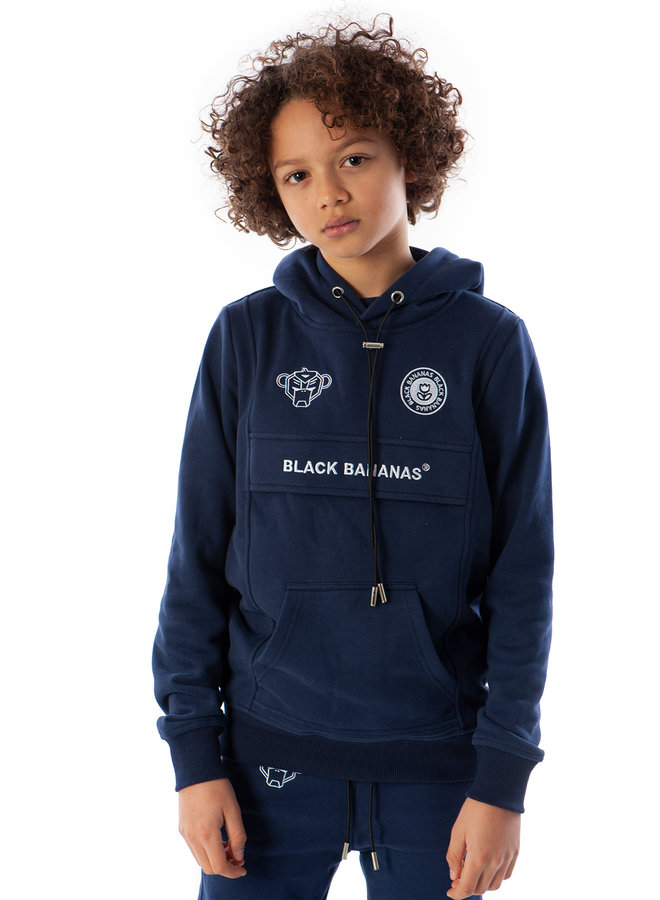 Black Bananas Kids - JR Anorak Kangaroo Hoody Navy