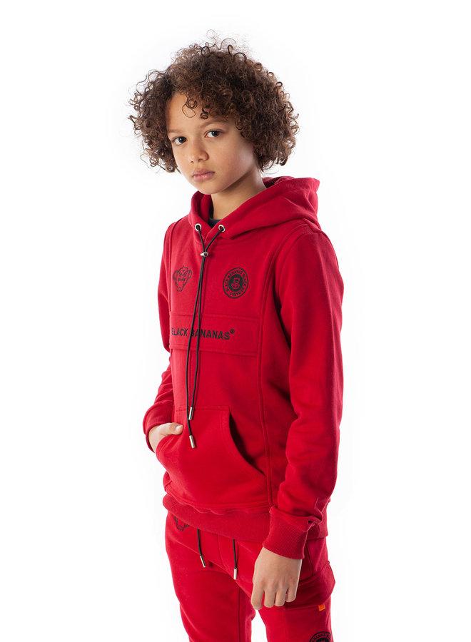 Black Bananas Kids - JR Anorak Kangaroo Hoody Red