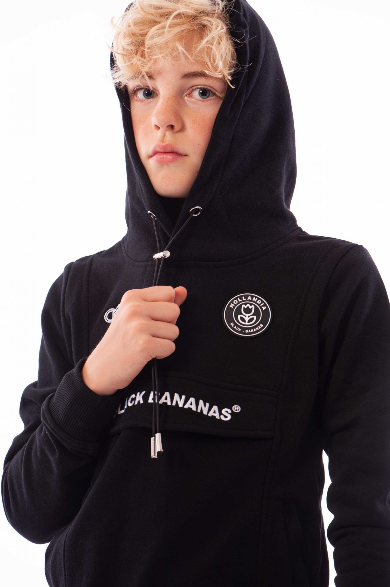 Black Bananas Hoodie Rood JR Anorak Kangaroo Hoody