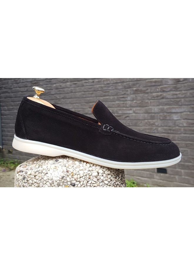 Hon - Gutti Black Suede Low Top