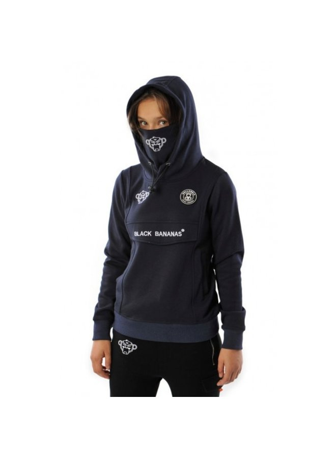 Black Bananas Kids - JR Mask Hoodie Navy