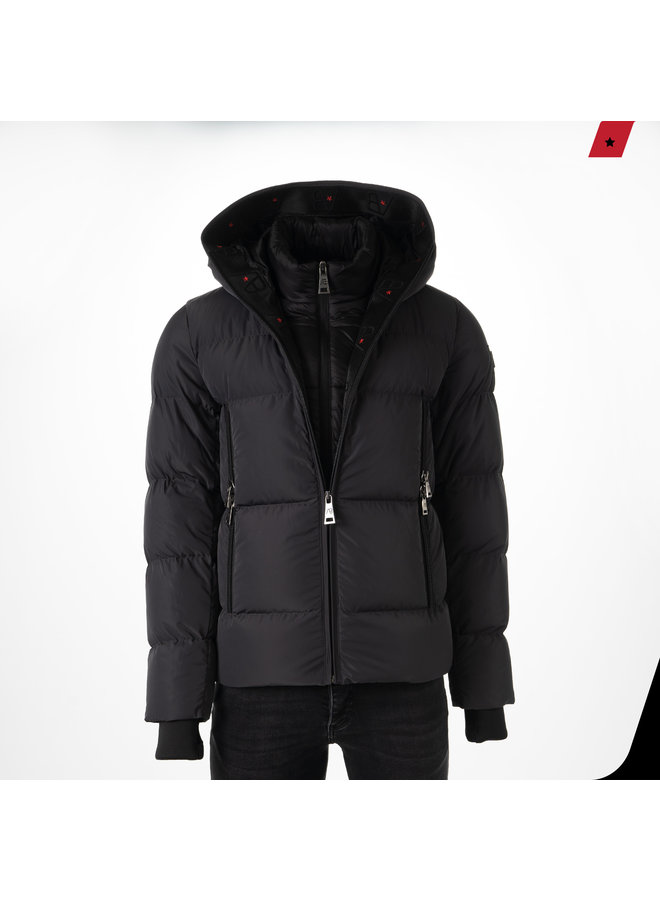 AB Lifestyle - Hooded Down Jacket Grijs