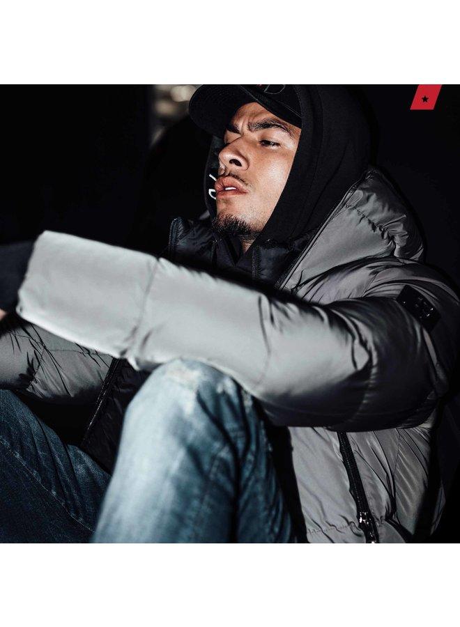 AB Lifestyle - Hooded Down Jacket Grey
