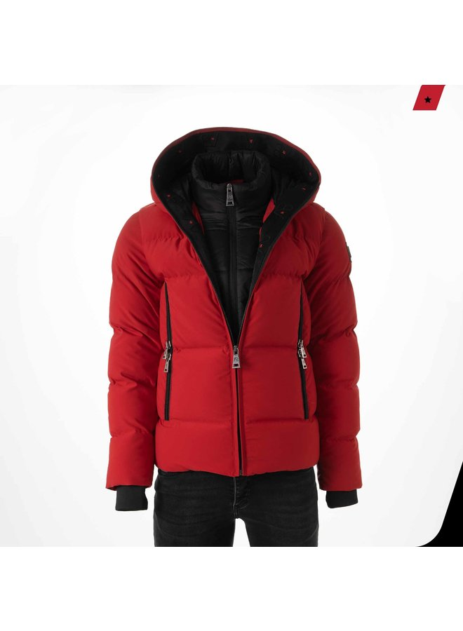 AB Lifestyle - Hooded Down Jacket Rood