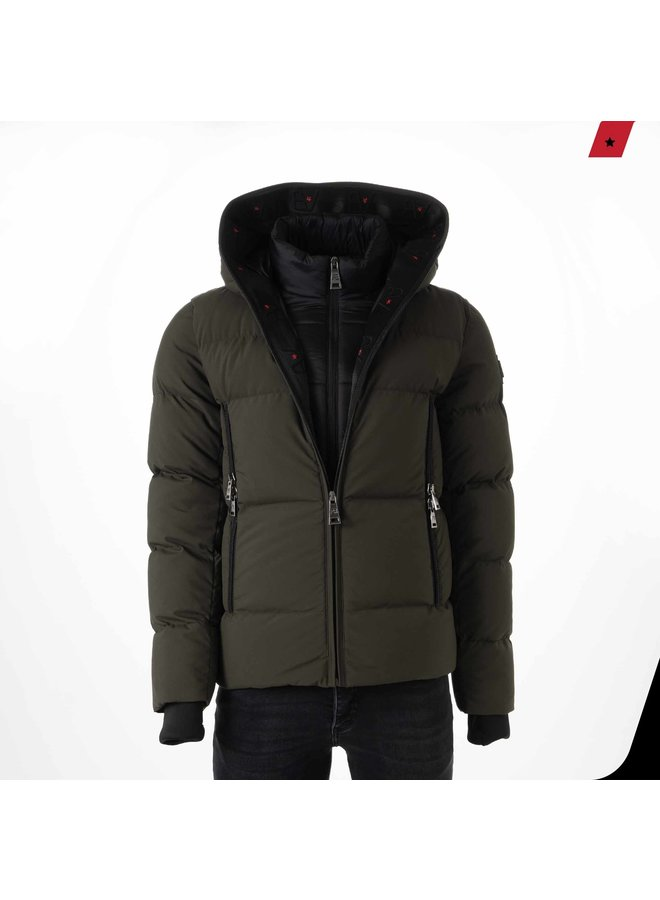 AB Lifestyle - Hooded Down Jacket Army Green