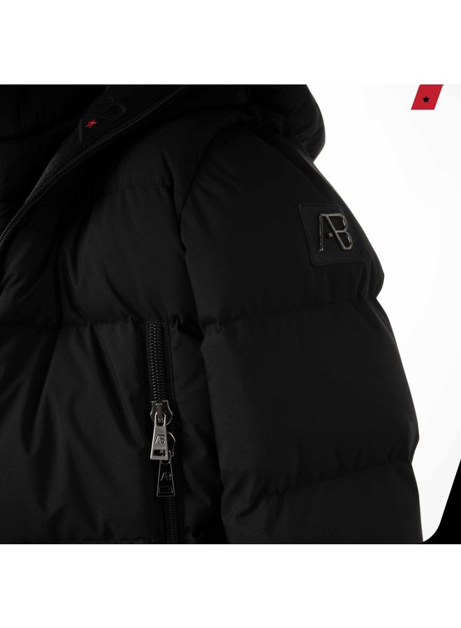 AB Lifestyle -  Hooded Down Jacket Black