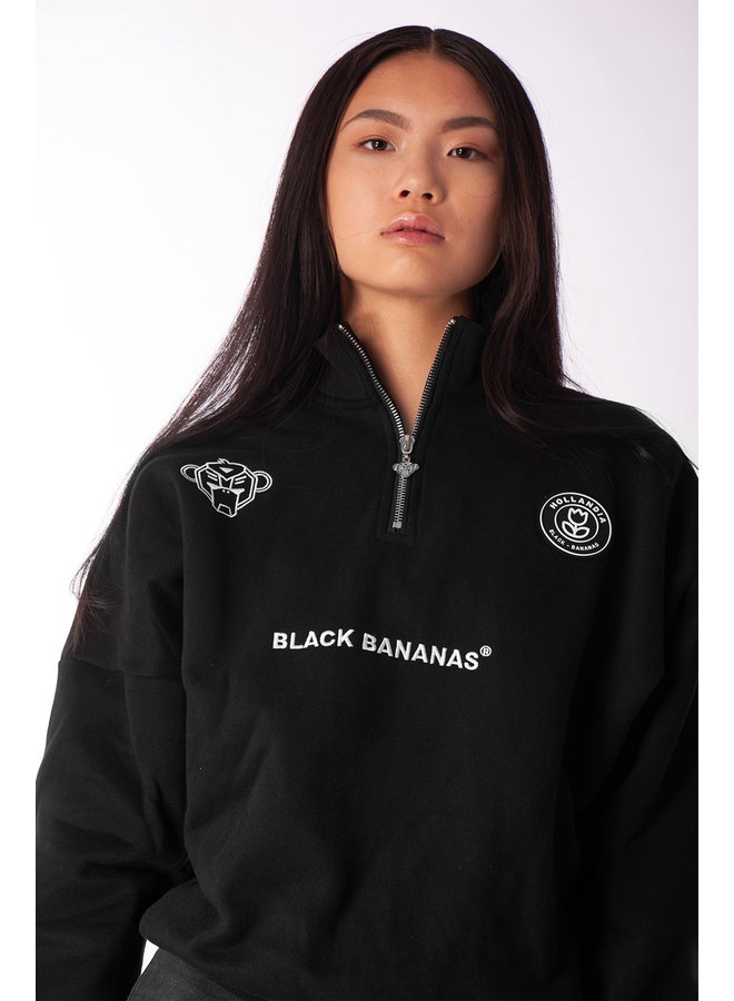 Black Bananas Women - High Collar Sweat Black