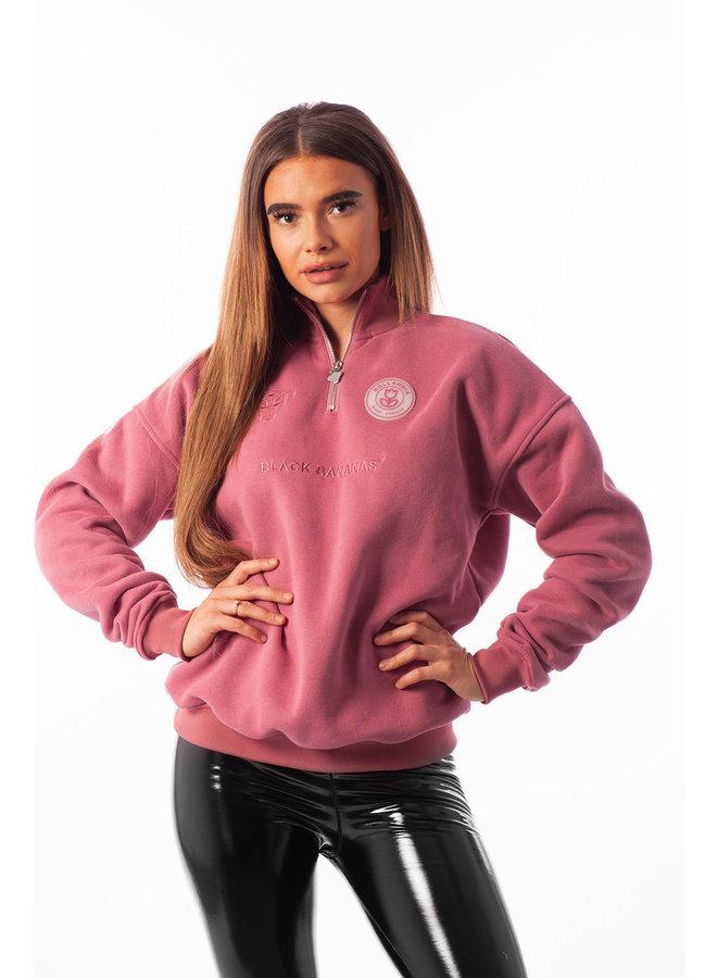 Black Bananas Women - High Collar Sweat Pink