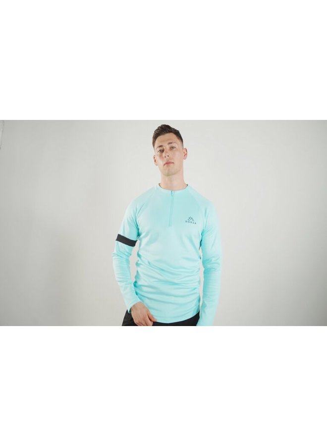 Donza - Polyester Suit Aqua Blue / Black