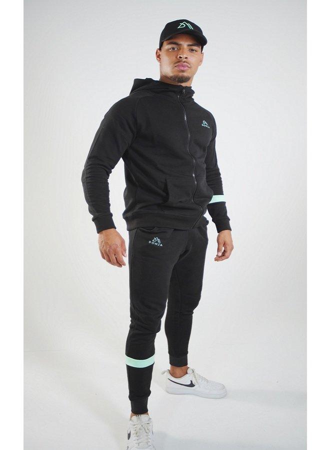 Donza - Jogging Suit Black / Mint