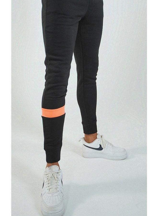 Donza - Jogging Suit Black / Salmon