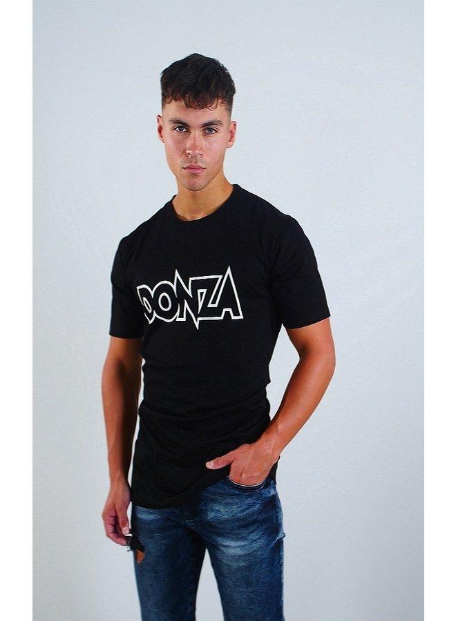 Donza Shirt Slim Fit Zwart / Wit