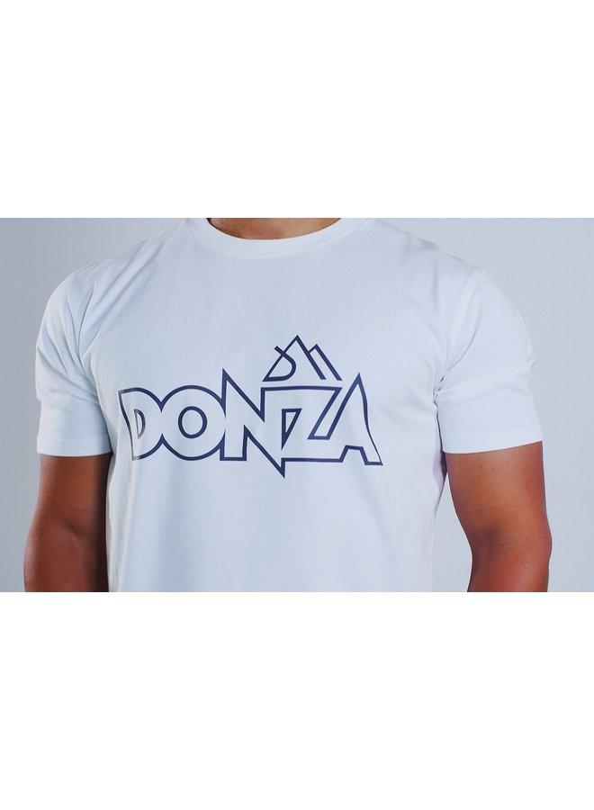 Donza Shirt Slim Fit Wit Antraciet