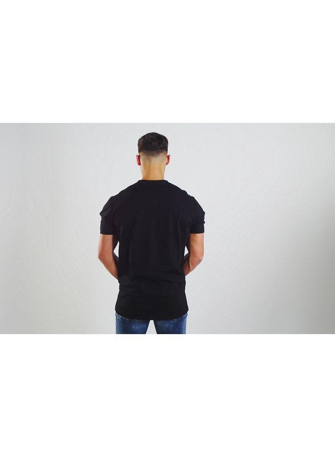 Donza - Shirt Slim Fit Zwart / Zalm