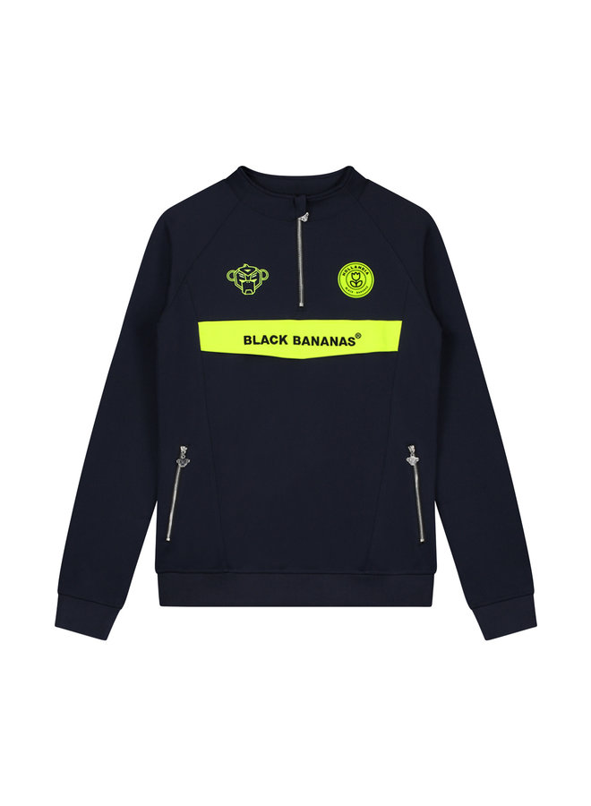 Black Bananas - Anorak Neon Tracksuit Navy Yellow