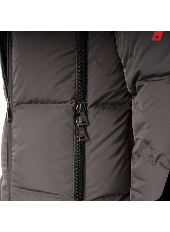 AB Lifestyle - Hooded Down Jacket Stone Grey