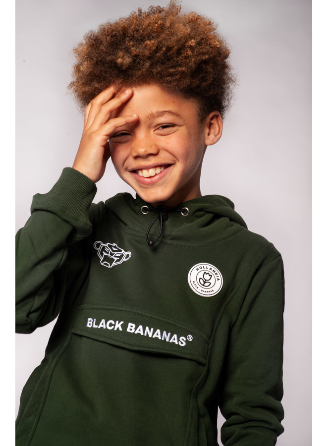Black Bananas Kids - JR. Anorak Hoody Moss Green