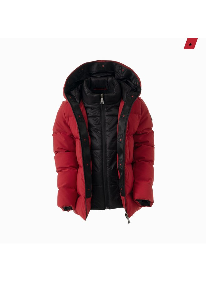 AB Lifestyle Kids - Hooded Down Jacket Red