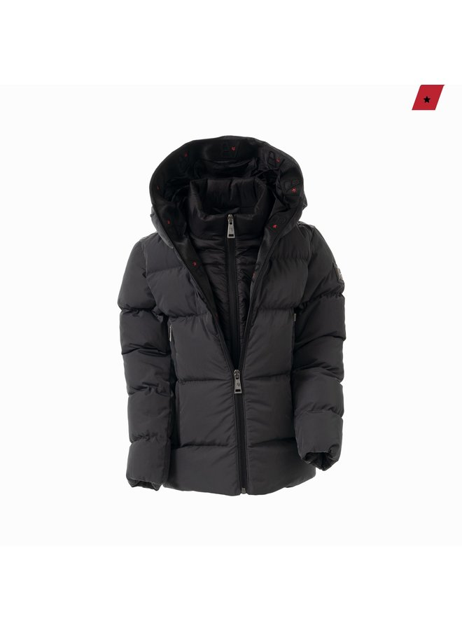 AB Lifestyle Kids - Hooded Down Jacket Grey
