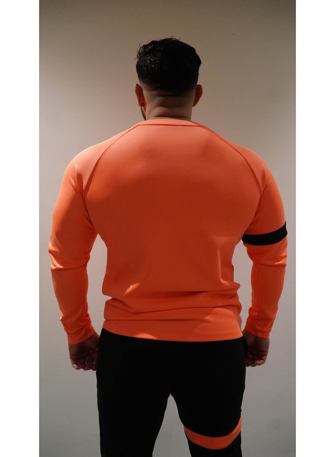 Donza - Polyester Suit Peach Zwart