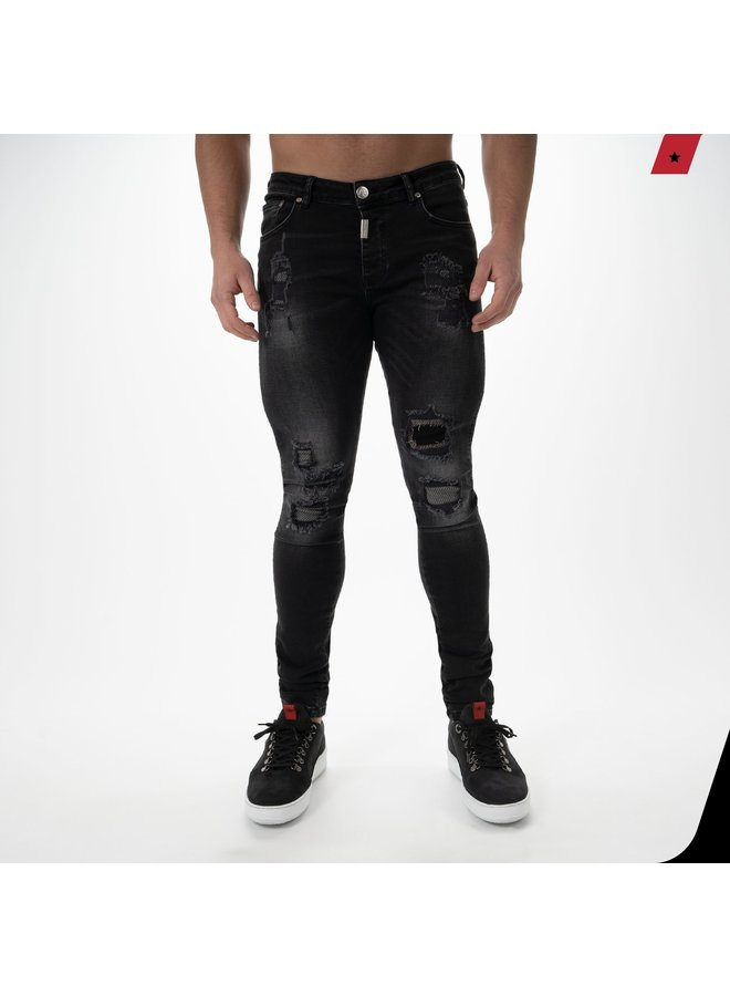 AB Lifestyle - Destroyed Jeans Phantom Black