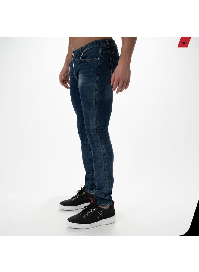 AB Lifestyle - Basic Stretch Jeans Dark Blue 2