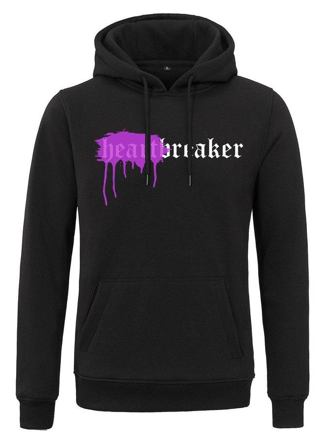 Rivero - Heartbreaker Hoodie Black Sprayed Purple