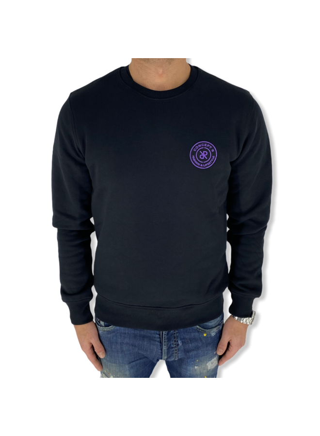 Concept R - Basic Sweater Black Purple
