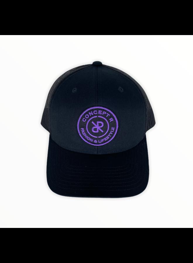 Concept R - Retro Trucker  Cap Black Purple