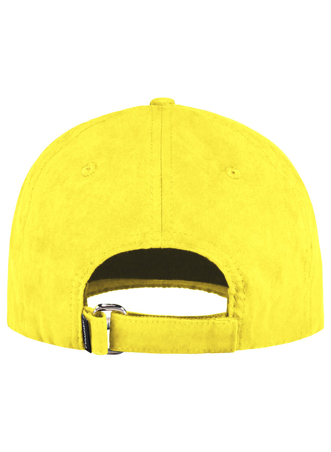 Confirm -Brand Suede Look Cap Yellow
