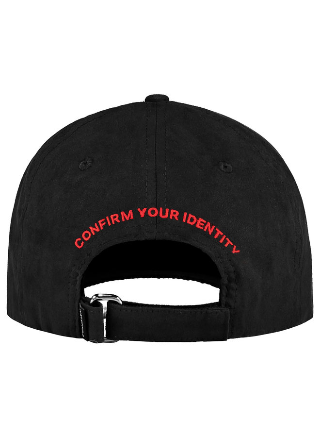 Confirm - Confirm Your Life Suede Look Cap Black Red