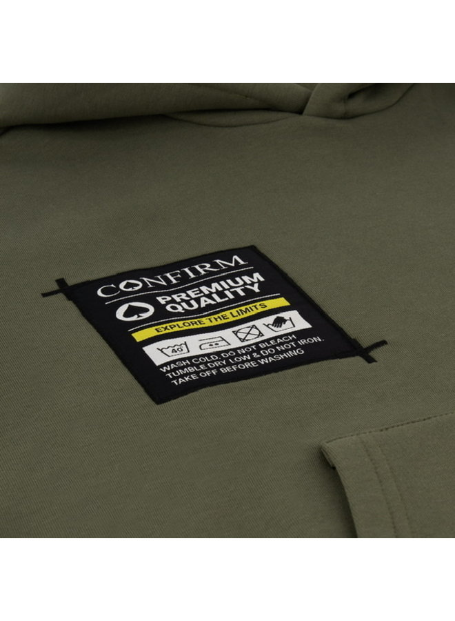 Confirm - Hoodie Pocketlabel Army Green