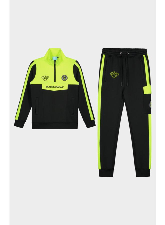 Black Bananas JR - Sprint Tracksuit Neon Yellow