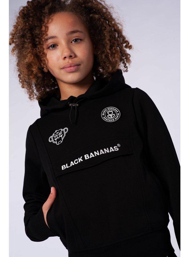 Black Bananas JR - Girls Anorak Tracksuit Black