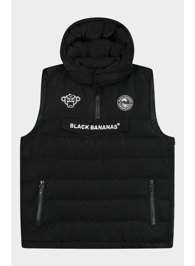 Black Bananas - Anorak Block Bodywarmer Black