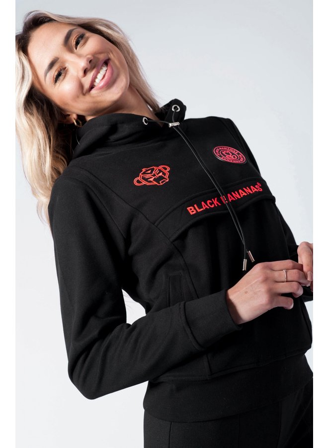 Black Bananas Women - Anorak Fleece Hoody Black