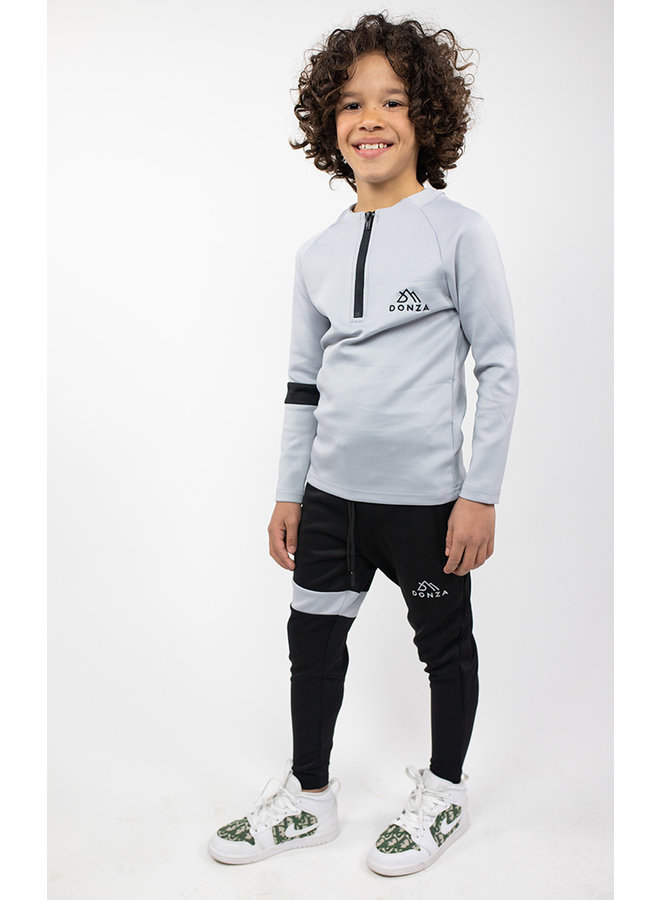 Donza Kids - Polyester Suit  Grey Black