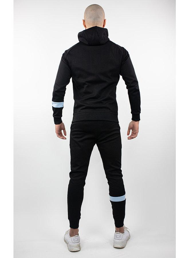Donza - Jogging Suit Black Aqua Blue