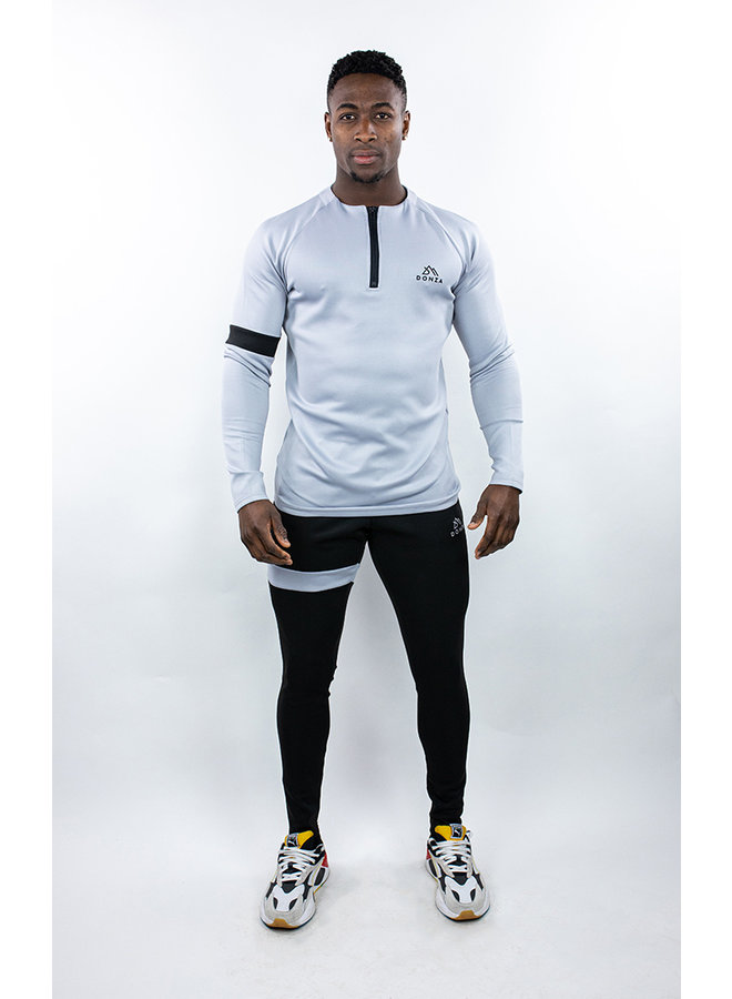 Donza - Polyester Suit Grey Black