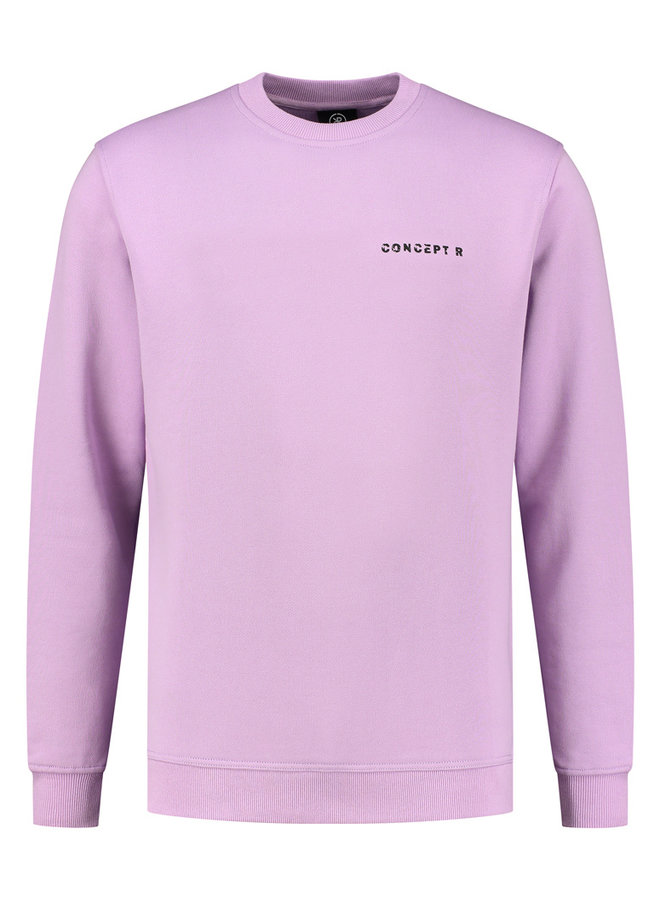 Concept R - Damaged Logo Sweater Purple