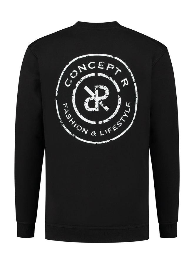Concept R - Damaged Logo Sweater Black