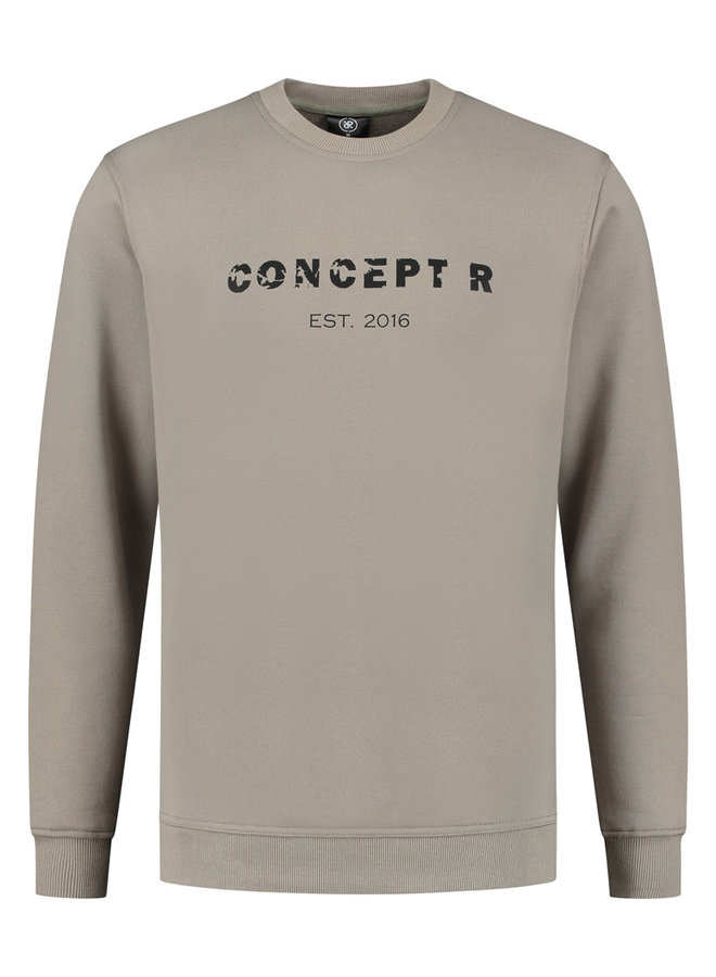Concept R - Damaged Letters Sweater Grey